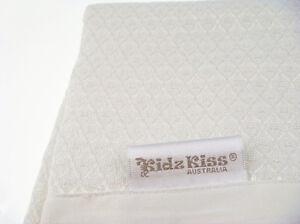 Kidz Kiss Bamboo Bassinet Waffle Blanket [120 x 80cm] Luxuriously Soft