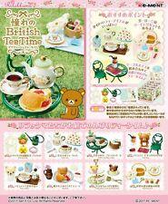 Re-ment Rilakkuma British Tea Time Miniature Figures Full set 8 packs San-X