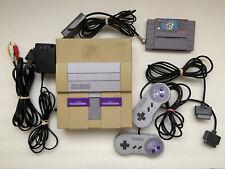 Nintendo Super Nintendo SNES Console, Controllers, and Super Mario World Game