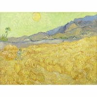 Vincent Van Gogh Wheatfield With A Reaper Extra Large Art Poster