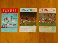 West Ham United v Manchester City collection of football match programmes x 3