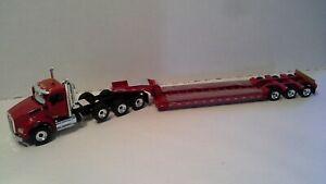Kenworth T880 4 axle tractor w/3 axle lowboy by First Gear 1:50 scale NIB