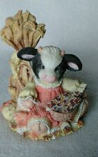 """MARY'S MOO MOOS """"The Cows in the Corn""""~ 1995 Enesco ~ #7106MM611 ~ Autumn"""