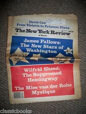 New York Review of Books June 12th 1986 From John Cheever Estate