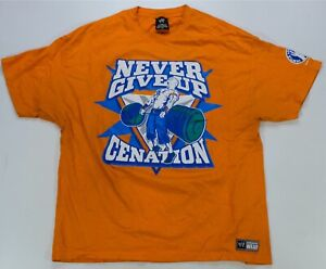 Rare Vintage John Cena Never Give Up Cenation You Can't See Me T Shirt 2000s 2XL