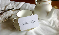 Bespoke White Place Cards - Wedding Guests - Set of 12