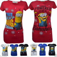 Viscose Regular Size Christmas Graphic T-Shirts for Women