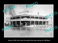 OLD LARGE HISTORIC PHOTO OF BOURKE NEW SOUTH WALES THE AUSTRALIAN HOTEL c1890