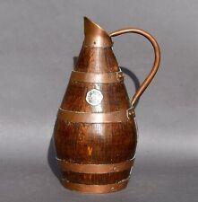 Ancien pichet en bois chêne et cuivre - Pichet a cidre Normand