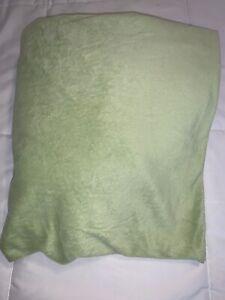 Pottery Barn Kids Chamois Twin Fitted Sheet Light Green Super Soft PBK