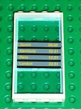 Fenetre avec horaires de trains LEGO Window door 6160c03 Set 4532 level crossing