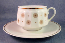 ARABIA OF FINLAND, 6 pcs Richard Lindh Vintage Roksana Coffee Cup & Saucer, Mint