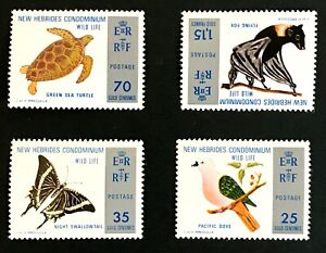 New Hebrides #183-6 Wild Life - MNH