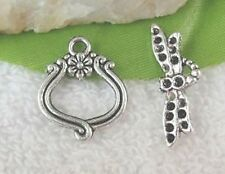 10 Sets Tibetan Silver Dragonfly Toggle Clasps T10550