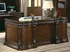 Exquisite Ornate Carvings Warm Brown Executive Office Desk Furniture Sale