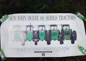 """Vintage 1991 John Deere Dealer Poster 60 Series *4560*4760*4960* large 60""""x30"""""""