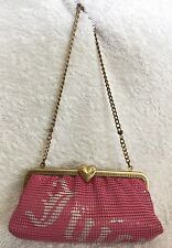 NWOT JUICY COUTURE Padded Pink Mesh Clutch/Shoulder Bag / Handbag