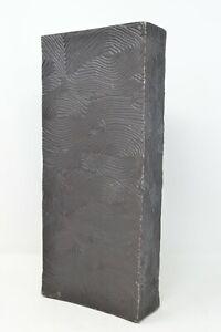 Natori Wood Grain Tall Metal Vase - Bronze - Large, Hand Cast Aluminum msrp $300