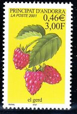 TIMBRE ANDORRE FRANCE NEUF N° 547  **  FLORE FRUIT FRAMBOISE