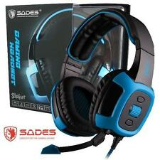 Sades SA-906 Stereo 7.1 Surround Headset USB Headband PC Notebook Pro Gaming Mic