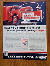 1942 IH International Harvester Trucks Ad Keep Your Trucks Rolling Longer