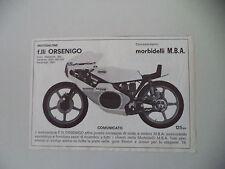 advertising Pubblicità 1978 MOTO MORBIDELLI MBA BENELLI 125
