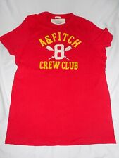 """ABERCROMBIE & FITCH Short Sleeve Muscle T-shirt Mens Red L Large """"Crew Club"""""""