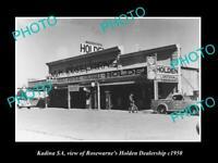 OLD 8x6 HISTORIC PHOTO OF KADINA SA THE ROSEWARNES HOLDEN DEALERSHIP c1950