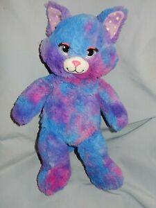"Build A Bear Stars Glow in the Dark Purple Pink Cat Kitty 16"""