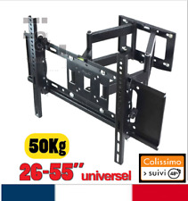 "Support TV mural orientable et inclinable 26"" - 55""  30 32 40 42 46 50 55 140cm"