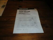 denon avr-2400 avr-2400 owners manual operation instructions dcm-360 dcm260 book