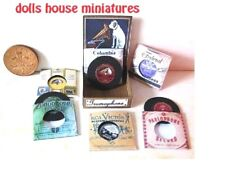 HMV GRAMAPHONE RECORD DISPLAY dollshouse miniatures