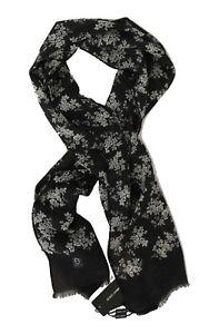 NEW DOLCE & GABBANA Scarf Gray 100% Cashmere Shawl Floral Wrap s. 170x60cm