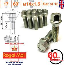 Coche Perno de Aleación para Rueda M14x1.5 35mm Ampliado Rosca Tapa para Renault