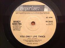 NANCY SINATRA 1967 Vinyl 45rpm Singke YOU ONLY LIVE TWICE