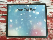 Personalised Nail Table Display Mat - Manicure & Pedicure - Blue Heart