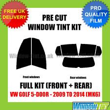 VW GOLF 5-PORTE 2009-2014 (MK6) COMPLETO PRE-TAGLIATO PELLICOLA FINESTRINI
