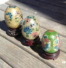 collectibles Eggs Ser Of 3 Vintage Collection