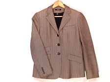 Chaps classic black & cream herringbone fitted blazer / women's 4 / great / b48