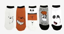 """Cartoon Network """"We Bare Bears"""" No-Show Socks in 5 Pair Pack - Size 9-11"""