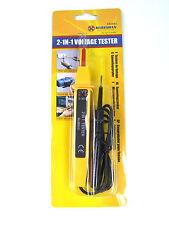 2 en 1 herramientas electricistas Pluma Comprobador De Tensión DC Corriente Alterna Checker Zócalo 6to380