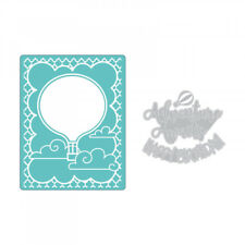 Sizzix Impresslits Embossing Folder - Hot Air Balloon by Lindsey Serata 662830