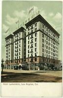 1900's 1910's Hotel Lankershim Los Angeles California CA Street View Postcard