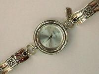 Handmade Shablool 925 Sterling Silver Bordaux Garnet Stone Watch For Lady
