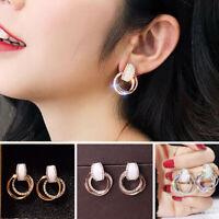 2019 Fashion Circle Geometry Metal Earring Ear Stud Earrings Women Jewelry Gift