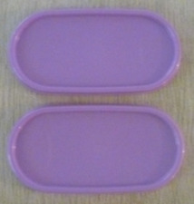 TWO Tupperware Modular Mates Ovals Replacement Seals Lilac Lavender Purple New