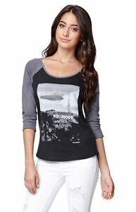 WOMEN'S JUNIOR'S VOLCOM HOLLYWOOD RAGLAN T-SHIRT BASEBALL