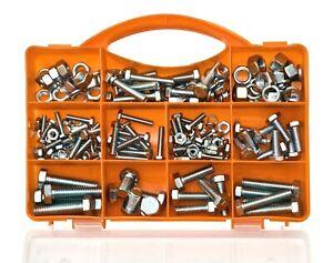 Brackit 240 Piece Bolts & Nuts Set – Inc Machine Bolts, Lock Washers & Hex Nuts