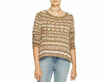 Free People Through The Storm Sweater - Small - Color Taupe - NWT - Retail $128