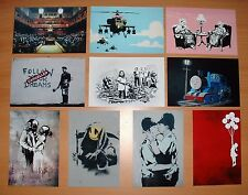 BANKSY### NEW SET OF TEN  ARTWORK POSTCARD SIZE PHOTO  PRINTS! £3.99 NOT CANVAS